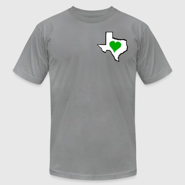 Texas Green Heart - Men's Fine Jersey T-Shirt