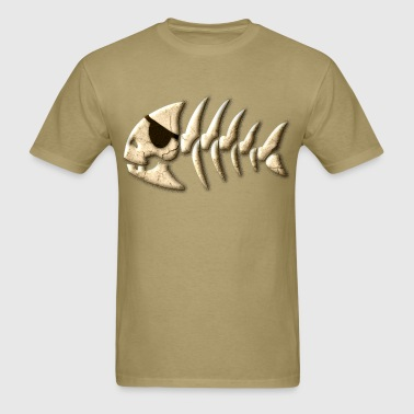 Bone Pirate fish - Men's T-Shirt