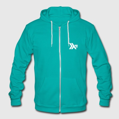 Haskell Lambda Logo Fleece Zip Hoody - Unisex Fleece Zip Hoodie by American Apparel
