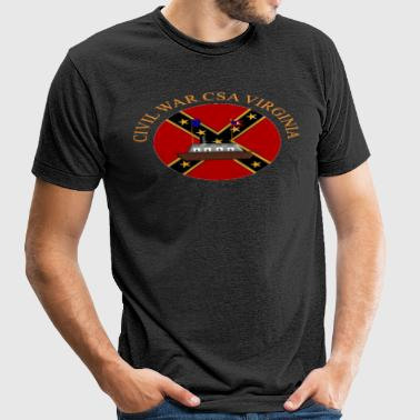, Civil War Cannons - Unisex Tri-Blend T-Shirt by American Apparel