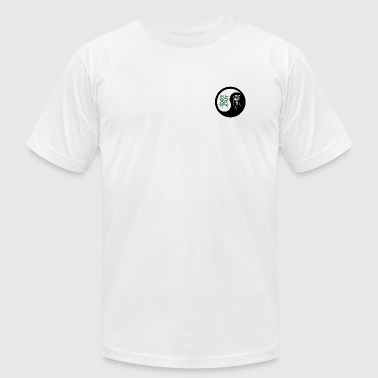 Yin and Yang (dragon and tiger) - Men's T-Shirt by American Apparel