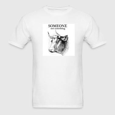 someone not something cow men's - Men's T-Shirt