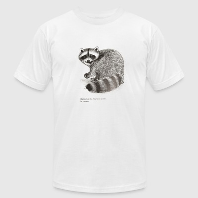 Raccoon charmer - Men's T-Shirt by American Apparel