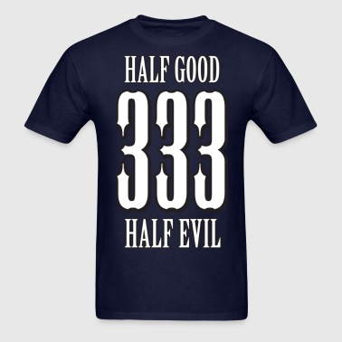 333 - half good, half evil - Men's T-Shirt