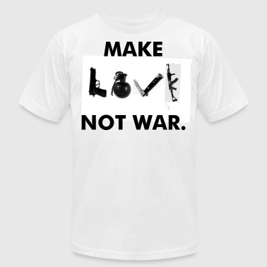 Make LOVE not war. - Men's Fine Jersey T-Shirt
