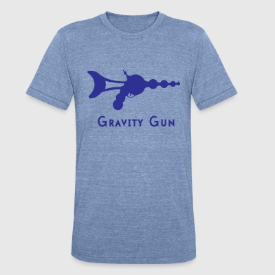 Gravity Gun - Unisex Tri-Blend T-Shirt by American Apparel