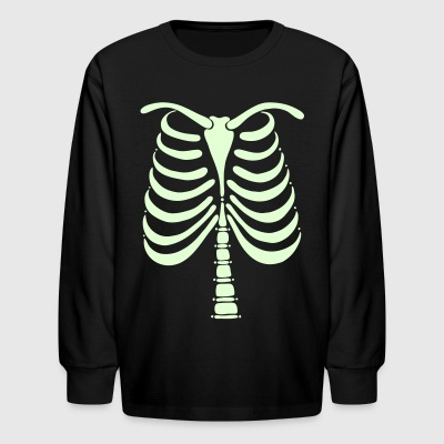 Skeleton Bones Glow in the Dark Kids Long Sleeve T-Shirt - Kids' Long Sleeve T-Shirt