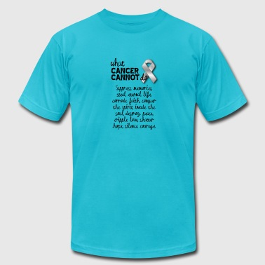 What cancer cannot do - ovarian cancer - Men's T-Shirt by American Apparel