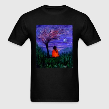 Buddha Under a Plum Tree - Men's T-Shirt
