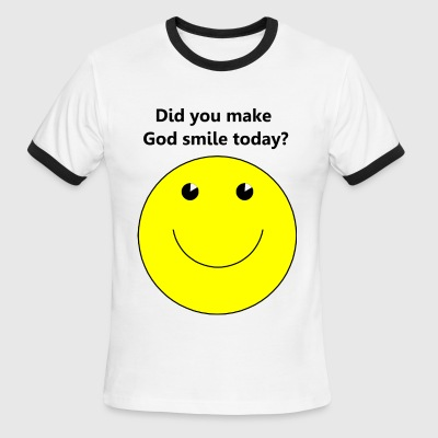 Smiley face for God t-shirt - Men's Ringer T-Shirt