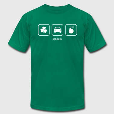 Kaboom - Irish Car Bomb (Green) - Men's Fine Jersey T-Shirt
