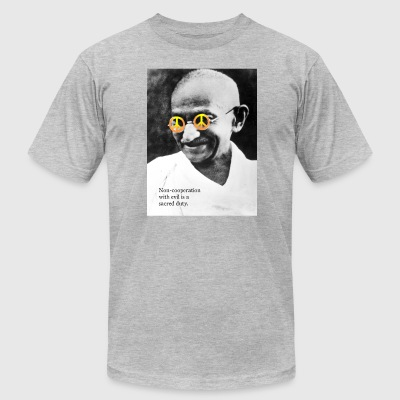 Peace Gandhi - Men's T-Shirt by American Apparel