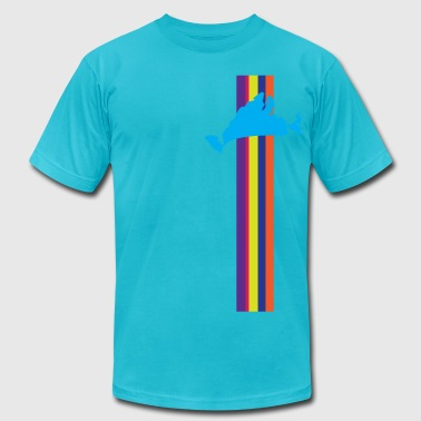 Martha's Vineyard Racing Stripe - Men's Fine Jersey T-Shirt
