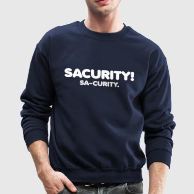 Sacurity! Crewneck Sweater White - Crewneck Sweatshirt