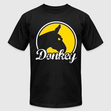 Donkey Poker - Men's T-Shirt by American Apparel