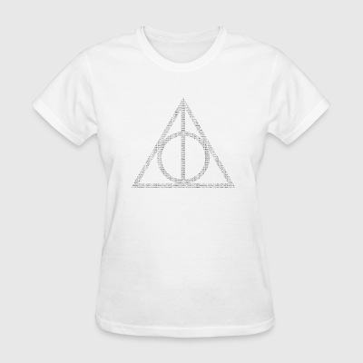 Typographic Deathly Hallows - Women's T-Shirt