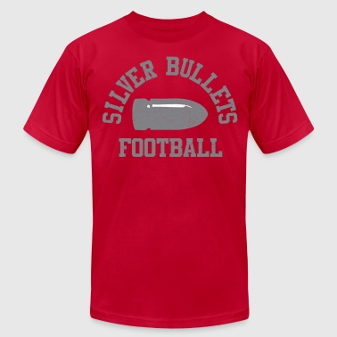 SILVER BULLETS FOOTBALL  - Men's T-Shirt by American Apparel