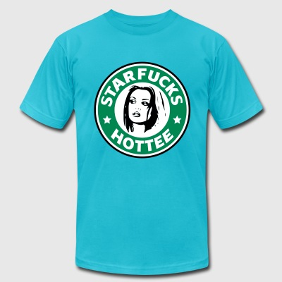 Starfucks Hottee vec T-Shirts - Men's T-Shirt by American Apparel
