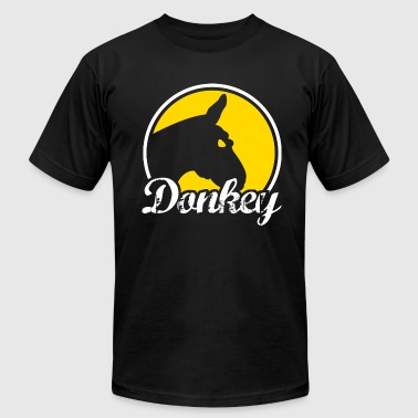 Donkey Poker - Dark - Men's Fine Jersey T-Shirt