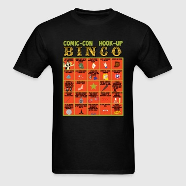 Comic-Con Hook Up Bingo T-Shirt (Men's Standard) - Men's T-Shirt