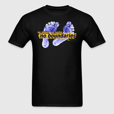 No Shoes, No Socks, No Boundaries T-Shirts - Men's T-Shirt