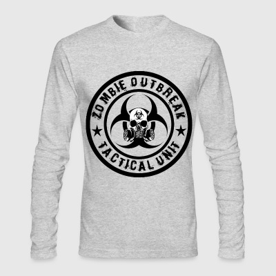 zombie outbreak tactical unit Long Sleeve Shirts - Men's Long Sleeve T-Shirt by Next Level