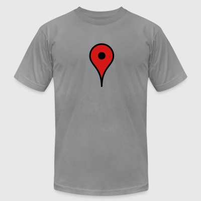 Map Marker T-Shirts - Men's T-Shirt by American Apparel