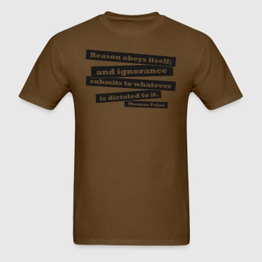 Thomas Paine - Reason - Men's T-Shirt