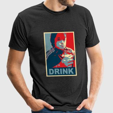 #DRINK2012, DRINK, BOOZE, ALCOHOL, GAY, BUTT, SEX, ANAL, DILDO, BAMEISTER - Unisex Tri-Blend T-Shirt by American Apparel