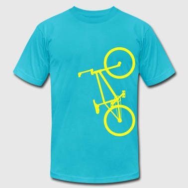 BMX Yellow- American Apparel AA Shirt (M) - Men's Fine Jersey T-Shirt