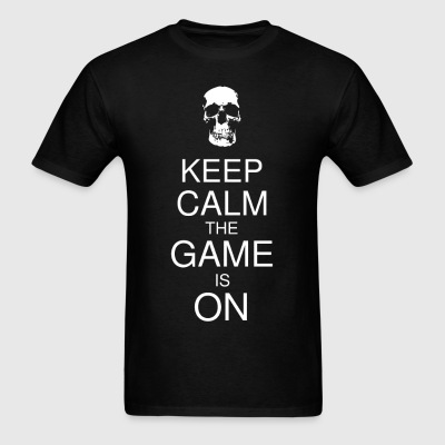 Keep Calm the Game is On (Skull) Men's - Men's T-Shirt