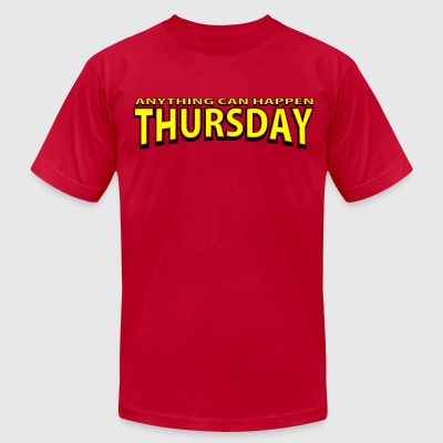 Anything Can Happen Thursday - Big Bang Theory - Men's T-Shirt by American Apparel