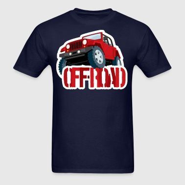 Red 4X4 Off-road Jeep - Men's T-Shirt