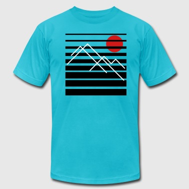 Peaks - AA Tee - Men's T-Shirt by American Apparel