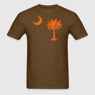 SC State Flag - Orange - Men's T-Shirt
