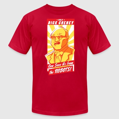 Cheney vs. Robots - Men's T-Shirt by American Apparel