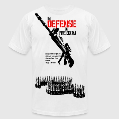 White defense_of_freedom T-Shirts - Men's T-Shirt by American Apparel