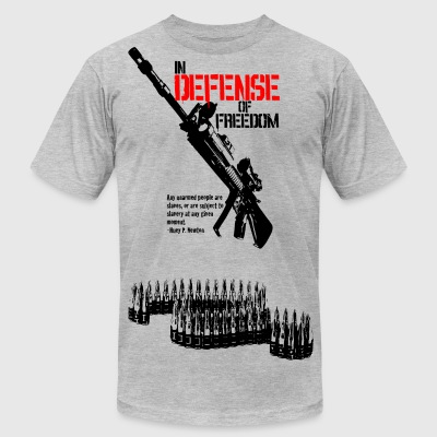Heather grey defense_of_freedom T-Shirts - Men's T-Shirt by American Apparel