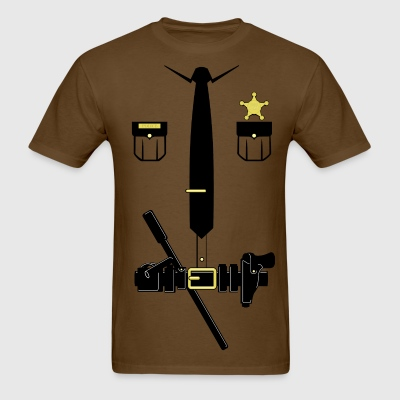 Brown Officer Unifrom Style - Men's T-Shirt
