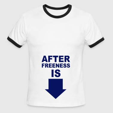Sky/navy After Freeness is penis T-Shirts - Men's Ringer T-Shirt