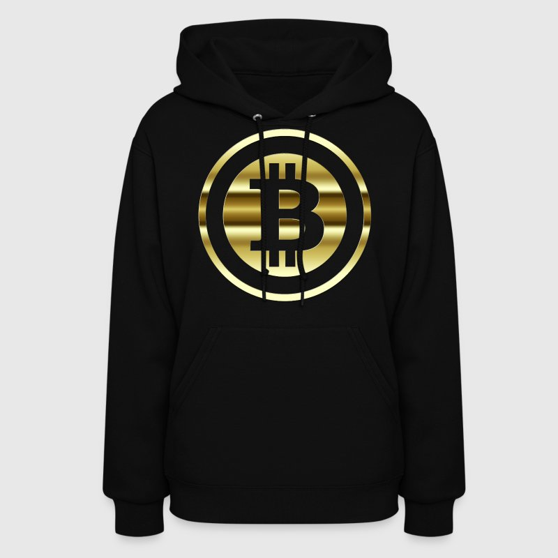Womens Hoodies Bitcoin Coin Gold Symbol - Women's Hoodie