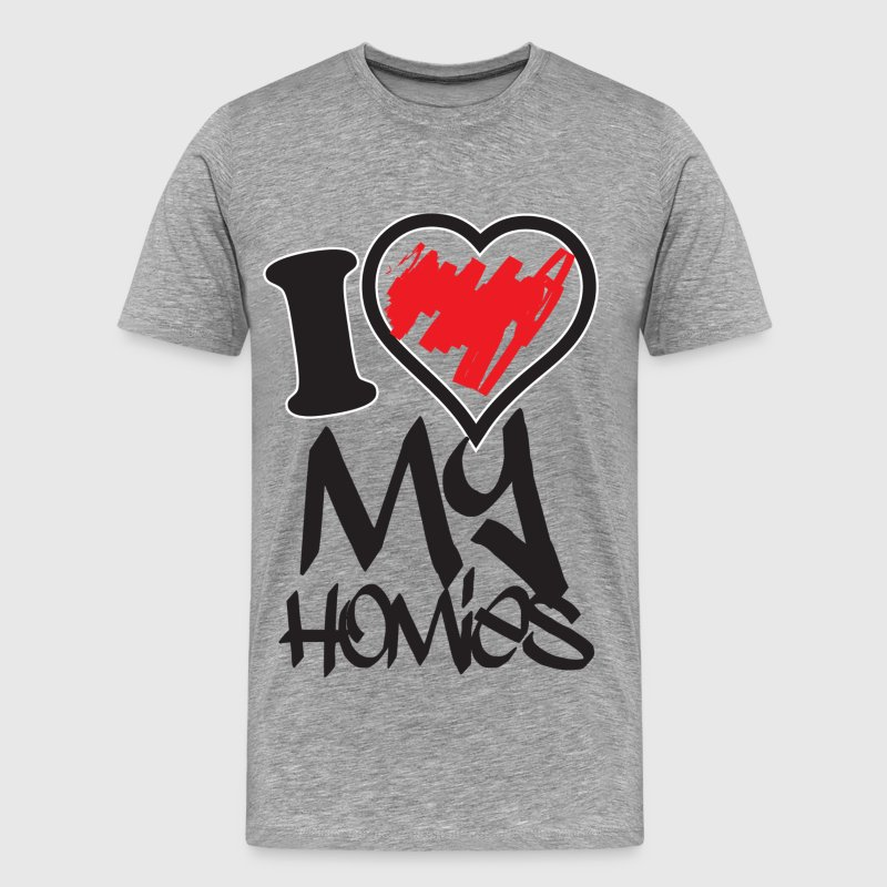 i love my homies T-Shirts - Men's Premium T-Shirt