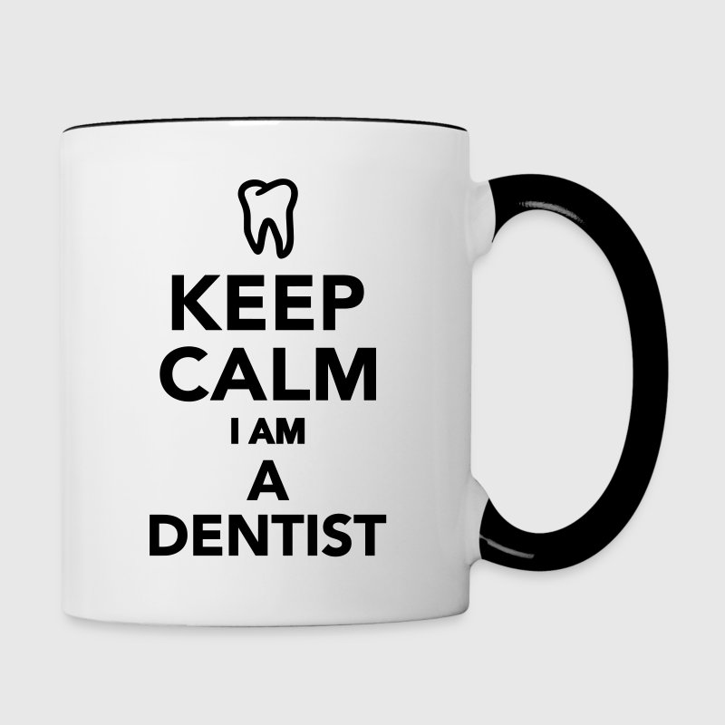 Keep calm I'm a Dentist Bottles & Mugs - Contrast Coffee Mug