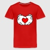 Mickey hands in heart shape - Kids' Premium T-Shirt