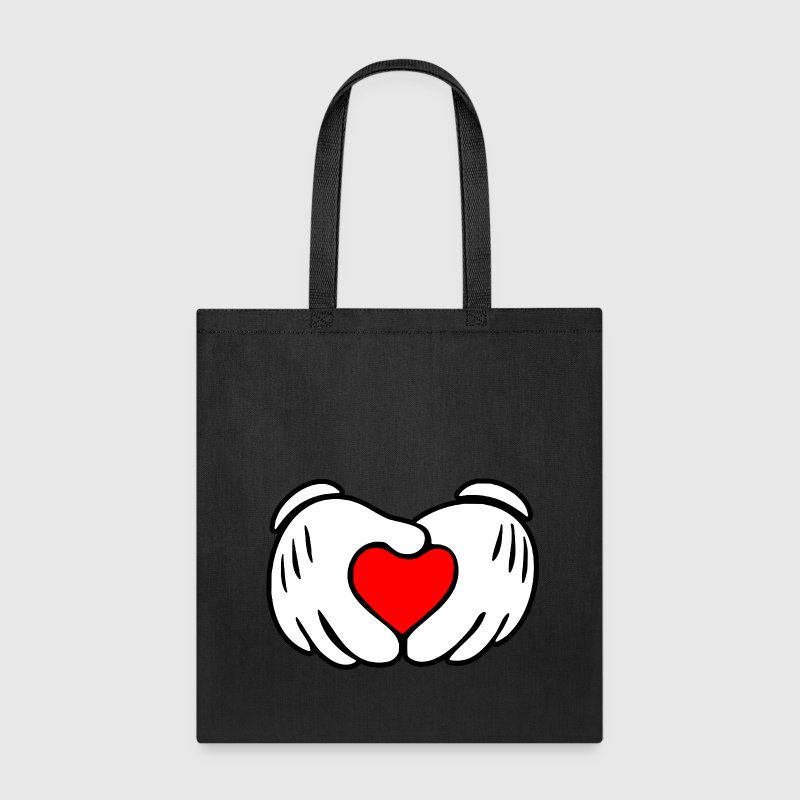 Mickey hands in heart shape - Tote Bag