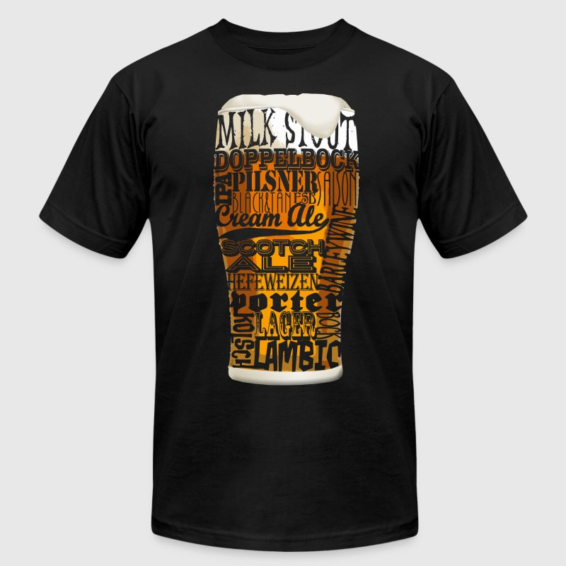 Beer Styles T-Shirts - Men's T-Shirt by American Apparel