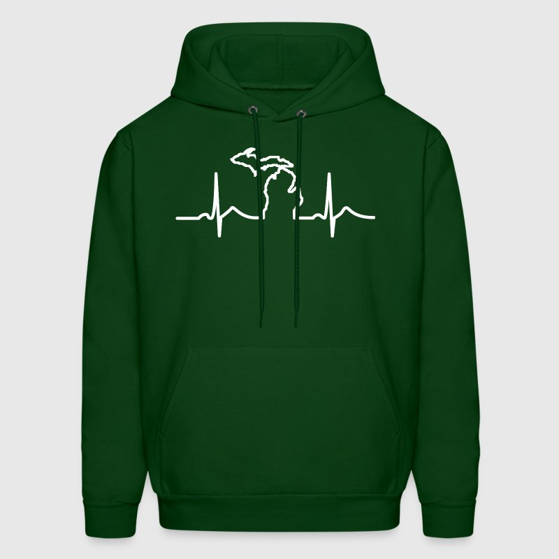 Michigan Heart Beat Clothing Apparel Shirts Hoodies - Men's Hoodie