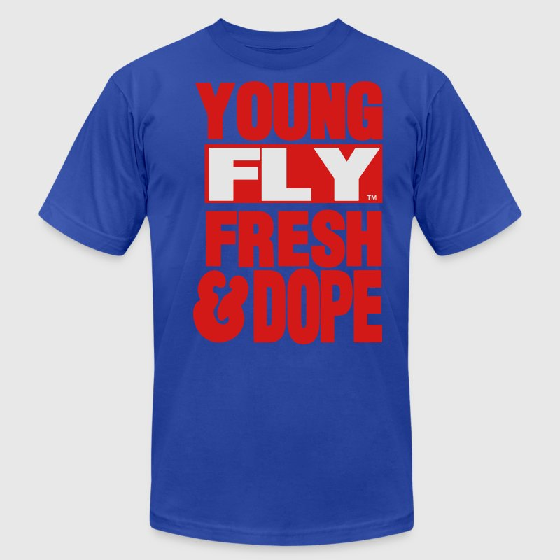 YOUNG FLY FRESH & DOPE T-Shirts - Men's T-Shirt by American Apparel