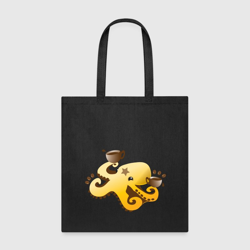 octopus coffee barista with coffee beans Bags & backpacks - Tote Bag