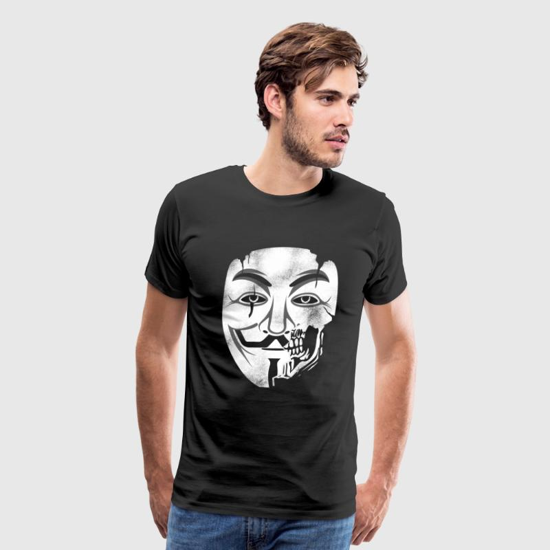 Anonymous Skull Mask - Men's Premium T-Shirt